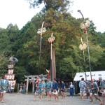 粟田神社での剣鉾