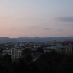 粟田神社からの夕暮れ