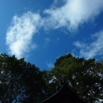 岡崎神社にて