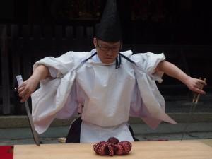 岡崎神社 式包丁の奉納