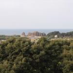 神明山古墳から望む立岩