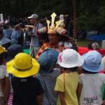 時代祭 武者と園児