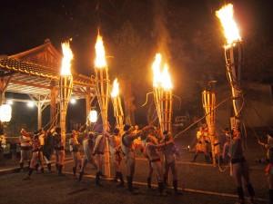 鞍馬の火祭 御旅所にて