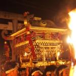 鞍馬の火祭 御旅所への神輿入り