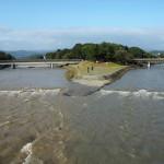 増水した鴨川 10月