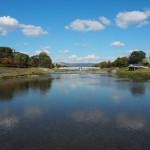 鴨川の飛び石からの眺め