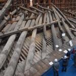 知恩院 御影堂の大修理 てこの原理で屋根を支える