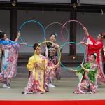 上賀茂神社 きもので集う園遊会 京小町踊り子隊 11月