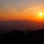 比叡山からの夕暮れ 11月