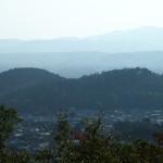 一条・堀河天皇陵からの双ヶ丘