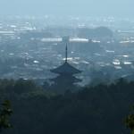 一条・堀河天皇陵からの仁和寺五重塔