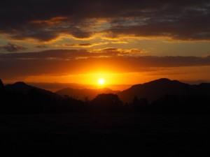 夜久野高原からの朝日