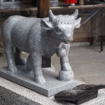 白峯神宮 牛の像 11月