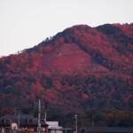 夕暮れの大文字山 11月
