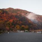 早朝の嵐山