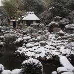 等持院の雪景色