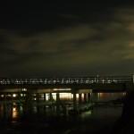 渡月橋と月