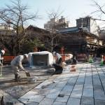 祇園白川 石畳の修復 12月