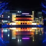 京都駅前 羅城門の模型 12月