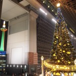 京都タワークリスマスライトアップと駅ビル