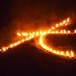 五山の送り火「左大文字」