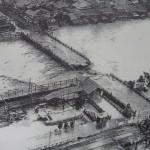 昭和10年水害で破壊された三条大橋