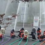 消防出初式 一斉放水