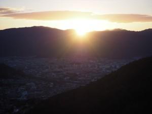 2021年 東山山頂公園からの初日の出