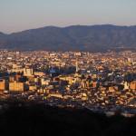 京都盆地の眺め