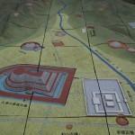 久津川古墳群の模型