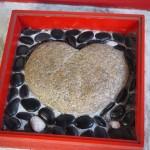 ハート形の石