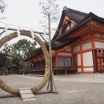 八坂神社 茅の輪 3月