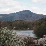 宝ヶ池と比叡山 4月