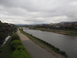 御池大橋からの鴨川