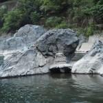 保津川下り ライオン岩