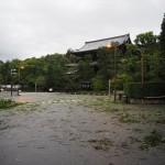 知恩院前 台風21号 9月