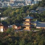 豊国廟からの清水寺 10月
