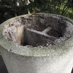 宇治神社 倒れた鳥居